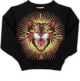 Gucci Angry-Cat-Print Cotton Sweatshirt