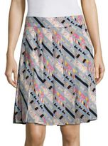 Marc Jacobs Printed Pleated Skirt