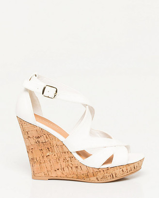 Le Château Faux Leather Cutout Wedge