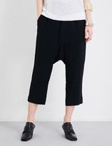 Rick Owens Drawstring dropped-crotch crepe trousers