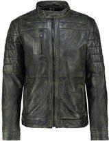 Mustang Edward Leather Jacket Khaki