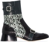 Chloé Cheryl 35mm snake-effect leather ankle boots