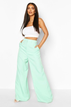 boohoo Premium Tailored Wide Leg Pants