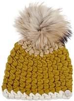 Mischa Lampert Women's Fur Pom-Pom Wool Hat