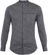 Giorgio Armani Granddad-collar speckle-print cotton shirt
