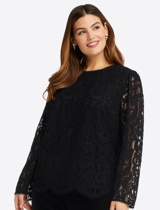 Draper James Bow Back Top in Lace