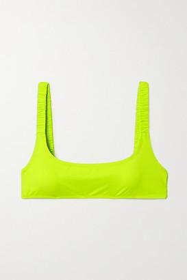 Fisch + Net Sustain Colombier Neon Bikini Top - Chartreuse