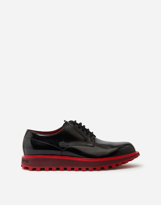 Dolce & Gabbana Derby In Antik Calfskin With Extra Lightweight Two-Tone Bottom