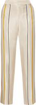 Rag & Bone Smith striped silk-twill wide-leg pants