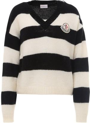 Moncler Logo Patch Stripe Sweater