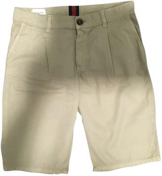 Gucci Beige Cotton Shorts