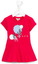 Kenzo flared logo print dress - kids - Cotton/Spandex/Elastane - 36 mth