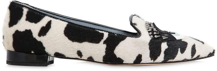 Chiara Ferragni 20mm Flirting Eyes Pony Skin Loafers