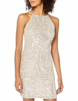 Parker Women's Alina High Neck Ruched Cocktail Dress