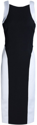 Amanda Wakeley Cutout Two-tone Ponte Dress