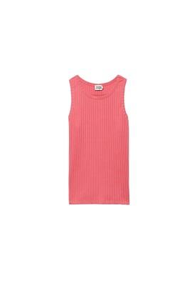 Twist & Tango - Ribbed Ina tank top in rose - xs   cotton   pink - Pink/Pink