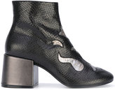 MM6 MAISON MARGIELA metallic embroidered boots - women - Leather - 36