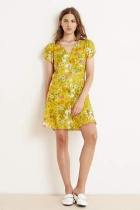 Velvet by Graham & Spencer Velvet By Graham Spencer Kirstan Floral Challis Short Sleeve Button-Up Dress