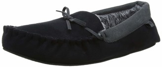 totes Men's Suedette Mocc Slippers Low-Top