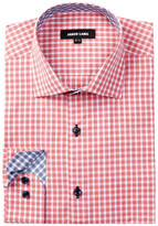 Jared Lang Long Sleeve Check Dress Shirt