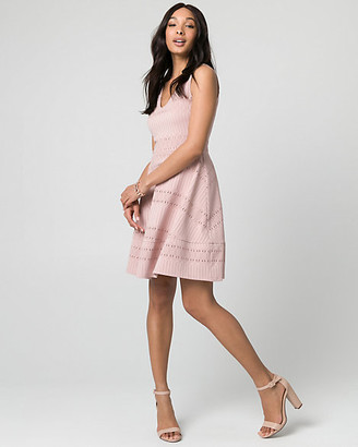 Le Château Crochet V-Neck Dress