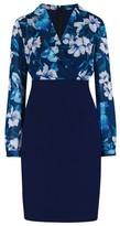 Dorothy Perkins Womens Paper Dolls Blue Floral Print Bodycon Dress, Blue
