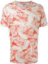Majestic Filatures leaf print T-shirt - men - Linen/Flax - S