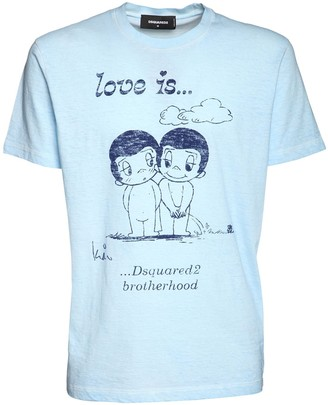 DSQUARED2 Rubber Print Cotton Cool Fit T-Shirt