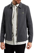 Lyle & Scott Zip Through Collar Jacket, Charcoal Marl