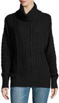 Three Dots Naomi Cable-Knit Sweater, Black
