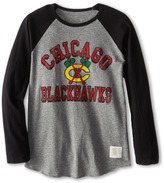 Original Retro Brand The Kids - Chicago Blackhawks Long Sleeve Baseball Tee Boy's T Shirt