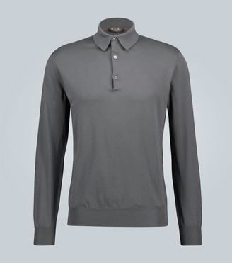 Loro Piana Long-sleeved cotton polo shirt