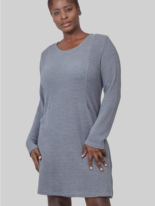 M&Co Izabel Curve long sleeve knitted dress
