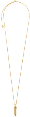 Lanvin Gold Charm Necklace