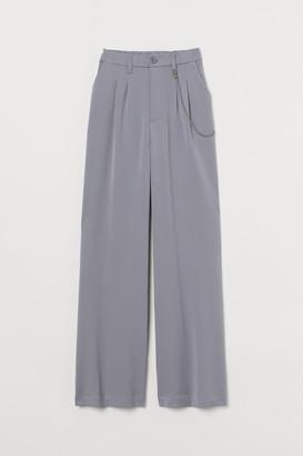 H&M Wide-leg Chain-detail Pants