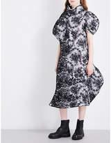 Comme des Garcons Funnel neck floral-lace midi dress