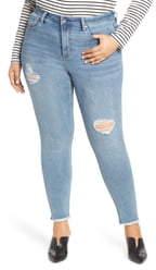 Max Studio MAXSTUDIO Indigo Perfect Vintage Core Ripped High Waist Skinny Jeans