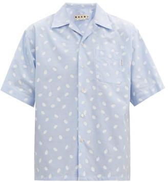 Marni Oversized Polka-dot Cotton Shirt - Light Blue