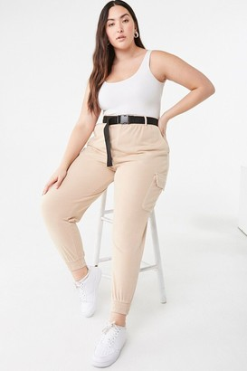 Forever 21 Plus Size Belted Cargo Joggers
