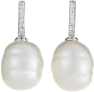 Majorica 16mm Sterling Silver Baroque Manmade Pearl Earrings