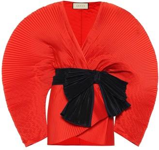Gucci Plisse duchess-satin jacket