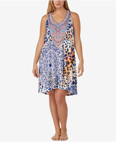Ellen Tracy Plus Size Printed Knit Chemise