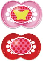 Mam Trends 6M+ 2-Pack Pacifiers in Pink