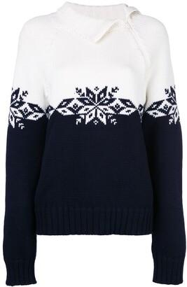 Monse Snowflake zipped turtleneck jumper