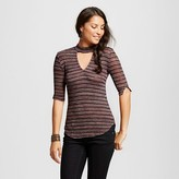 Lily Star Women's Mock Neck Striped Pullover Juniors')