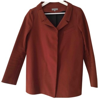 Cos Burgundy Cotton Jacket for Women
