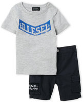 Diesel Infant Boys) Two-Piece Logo Tee & Shorts Set