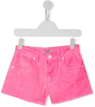 Pinko Kids Distressed Denim Shorts