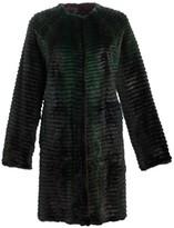 Julia & Stella For The Fur Salon Reversible Corduroy & Quilted Mink Fur Coat