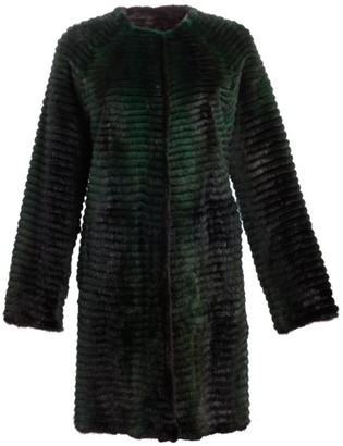 The Fur Salon Julia & Stella For Reversible Corduroy & Quilted Mink Fur Coat